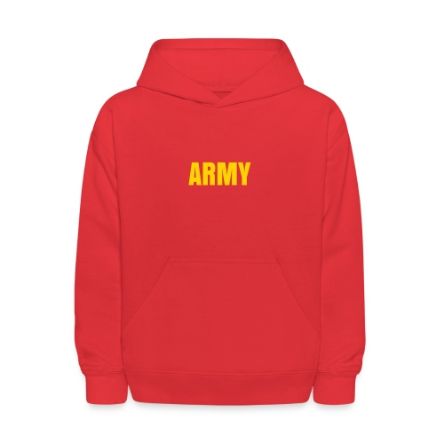 Child's ARMY Military Hoodies Red/Gold - Kids' Hoodie