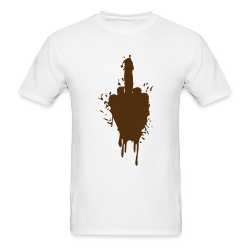 Muddy Middle Finger - Men's T-Shirt