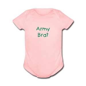 Army Brat Baby One Piece Romper - Short Sleeve Baby Bodysuit