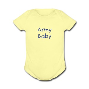 Army Baby One Piece Romper - Short Sleeve Baby Bodysuit