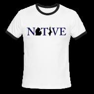 T-Shirts ~ Men's Ringer T-Shirt ~ Native Michigander