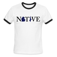 T-Shirts ~ Men's Ringer T-Shirt ~ Native Michigander