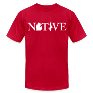 T-Shirts ~ Men's T-Shirt by American Apparel ~ Native Michigander