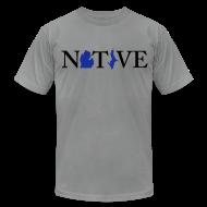T-Shirts ~ Men's T-Shirt by American Apparel ~ Native Michigander