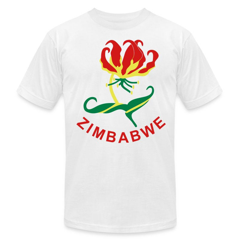 Flame Lily Zimbabwe - Men's T-Shirt by American Apparel