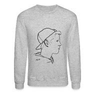 Long Sleeve Shirts ~ Crewneck Sweatshirt ~ Men's Side Portrait Crew Neck