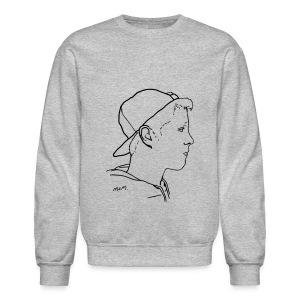 Men's Side Portrait Crew Neck - Crewneck Sweatshirt