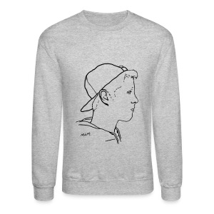 Men's Side Portrait Crew Neck - Crewneck Sweatshirt