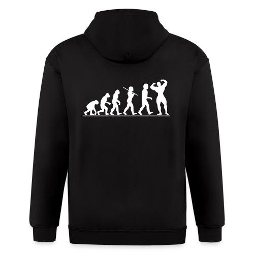 Evolution | Mens hoodie (Back print) - Men's Zip Hoodie