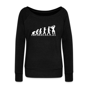 Evolution | Womens Jumper - Women's Wideneck Sweatshirt