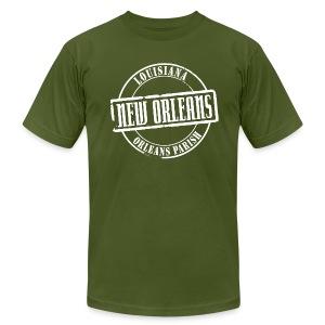 New Orleans Title American Apparel T-Shirt - Men's Fine Jersey T-Shirt