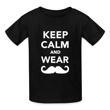 Keep calm and wear Mustache Kids' Shirts