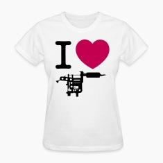 I Love Tattoos Women's T-Shirts