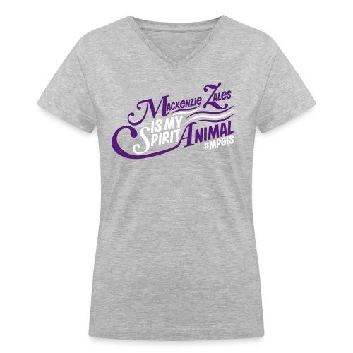 Mackenzie Zales Is My Spirit Animal - Women's V-Neck T-Shirt