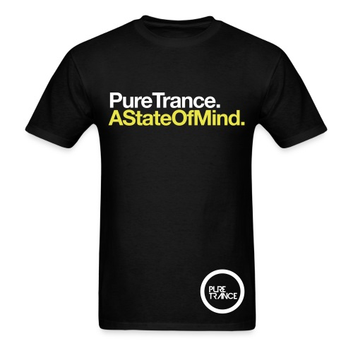 A State Of Mind. (White/Yellow) [Male] - Men's T-Shirt