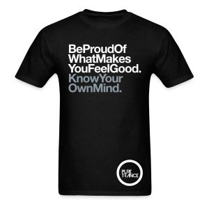 Be Proud. (White/Metallic Silver) [Male] - Men's T-Shirt