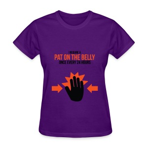 Ladies Tee: Belly Pat - Women's T-Shirt