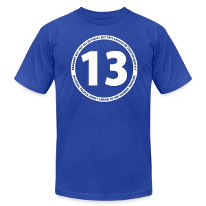 Number 13 - Men's T-Shirt by American Apparel