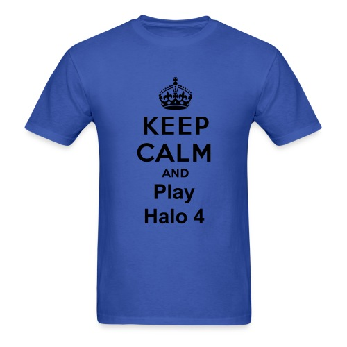 Keep calm and play halo 4 - Men's T-Shirt