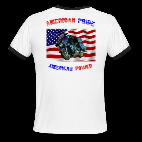 Men's L/W Ringer T Back American Pride - Men's Ringer T-Shirt