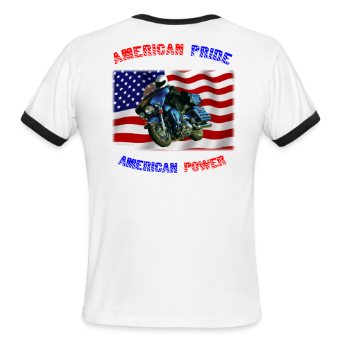 Men's L/W Ringer T Back American Pride - Men's Ringer T-Shirt