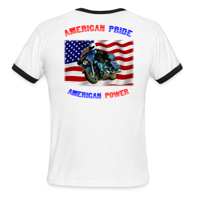 Men's L/W Ringer T Back American Pride
