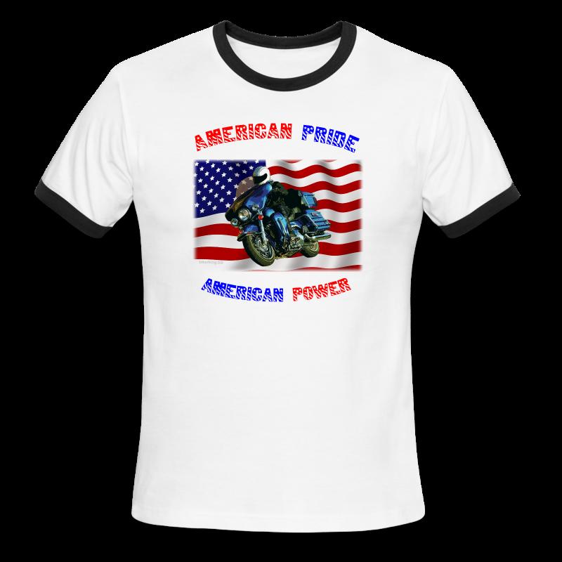 Men's L/W Ringer T Front American Pride - Men's Ringer T-Shirt