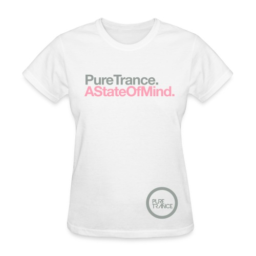 A State Of Mind. (Silver Gray/Pink) [Female] - Women's T-Shirt