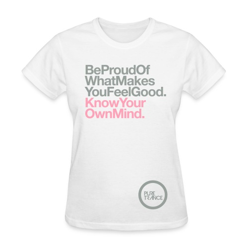 Be Proud. (Silver Gray/Pink) [Female] - Women's T-Shirt