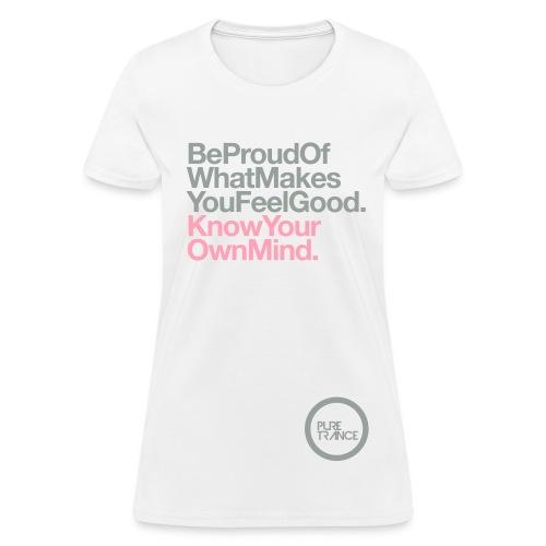 Be Proud. (Silver Gray/Pink) [Female] - Women's T-Shirt