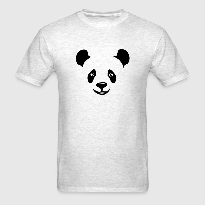 panda teddy bear face cute animal save T-Shirts - Men's T-Shirt