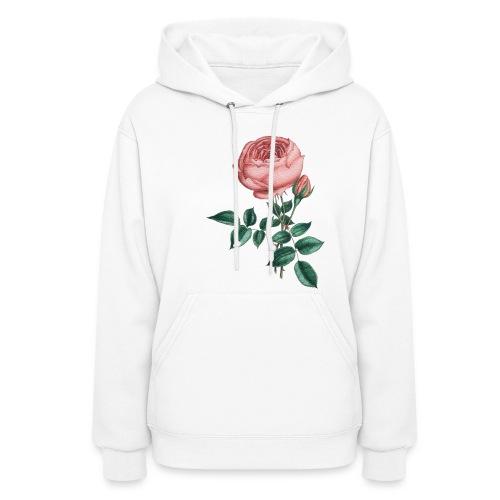 pink rose - Women's Hoodie
