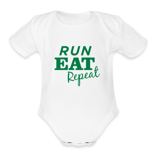 runeatrepeat_tshirtgreenlogo_1 - Short Sleeve Baby Bodysuit