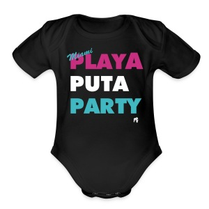 MIAMI MOTTO CHAMACO - Short Sleeve Baby Bodysuit