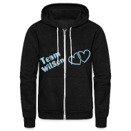 Zip Hoodies & Jackets ~ Unisex Fleece Zip Hoodie by American Apparel ~ Team WilSon Hoodie