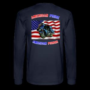 Men's Long Sleeve Hanes Back American Pride - Men's Long Sleeve T-Shirt