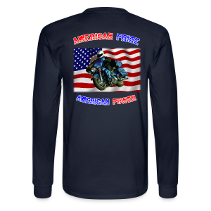 Men's Long Sleeve Hanes Back American Pride - Men's Long Sleeve T-Shirt
