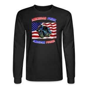 Men's Long Sleeve Hanes Front American Pride - Men's Long Sleeve T-Shirt