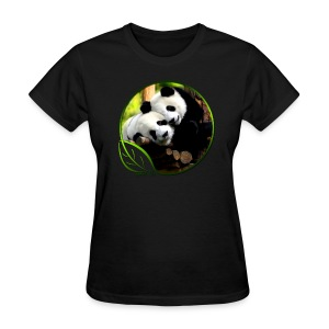 Green Life Series - Pandas - Women's T-Shirt