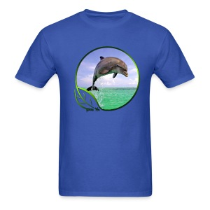 Green Life Series - Dolphin - Men's T-Shirt