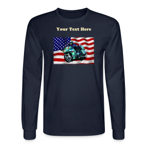 Men'sLSHanes_Front_FlagVyTL - Men's Long Sleeve T-Shirt