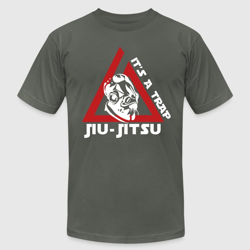 Jiu Jitsu It's a Trap T-Shirts - Men's T-Shirt by American Apparel
