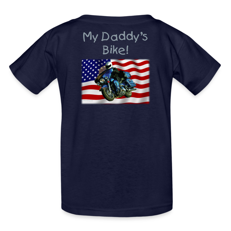 Children's T Back US Flag HarDaddy's w/name Custom - Kids' T-Shirt