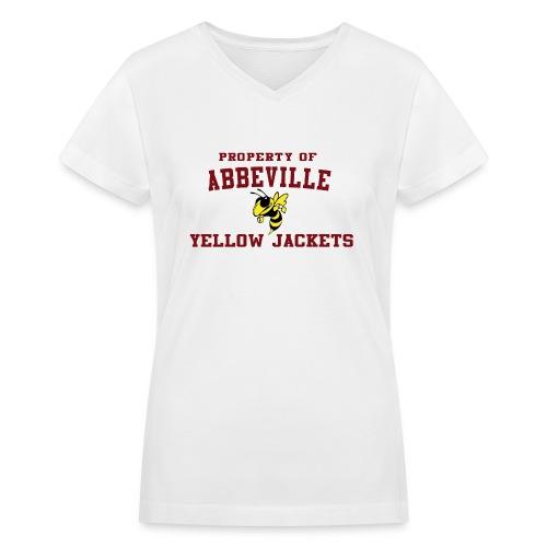 Abbeville White Female - Women's V-Neck T-Shirt