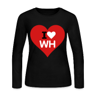 Long Sleeve Shirts ~ Women's Long Sleeve Jersey T-Shirt ~ I heart Will Horton - Long Sleeve T-shirt