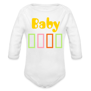 Bar Trim - Long Sleeve Baby Bodysuit