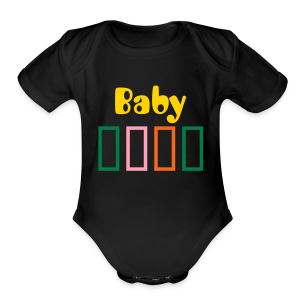 Bar Trim - Short Sleeve Baby Bodysuit
