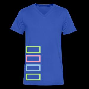 Bar Trim - Men's V-Neck T-Shirt by Canvas