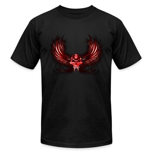 Red Skull with Fangs - Men's Fine Jersey T-Shirt