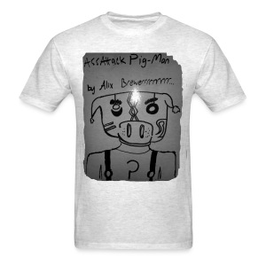 ass-attack pig-man - Men's T-Shirt